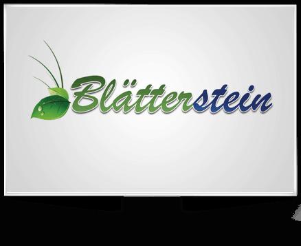 Logo Entwicklung für Blätterstein