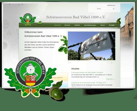 Webseite in WordPress nachgebaut für Schützenverein Bad Vilbel