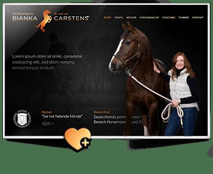 Logo und Webseiten Erstellung (WordPress) Bianka Carstens