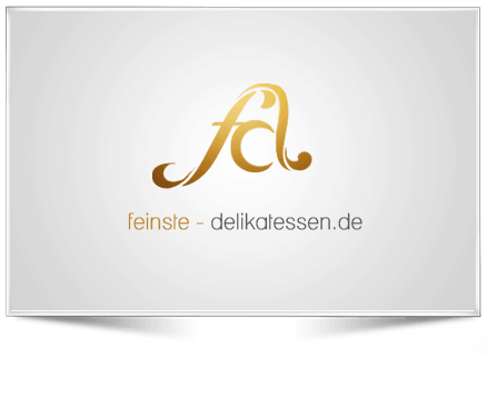 Logo Gestaltung - im Auftrag - für feinste delikatessen