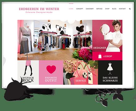Wordpress Umsetzung der Webseite Erdbeeren im Winter