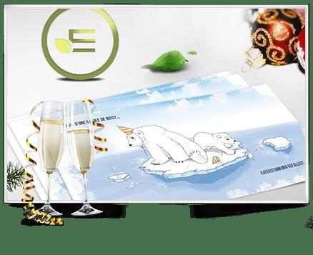Weihnachtskarten, Broschüren, Produktdesign von E-Tankstellen u.v.m. für Print Estonteco