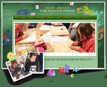 GSL Referenzen Webseite Grundschule Dinschede