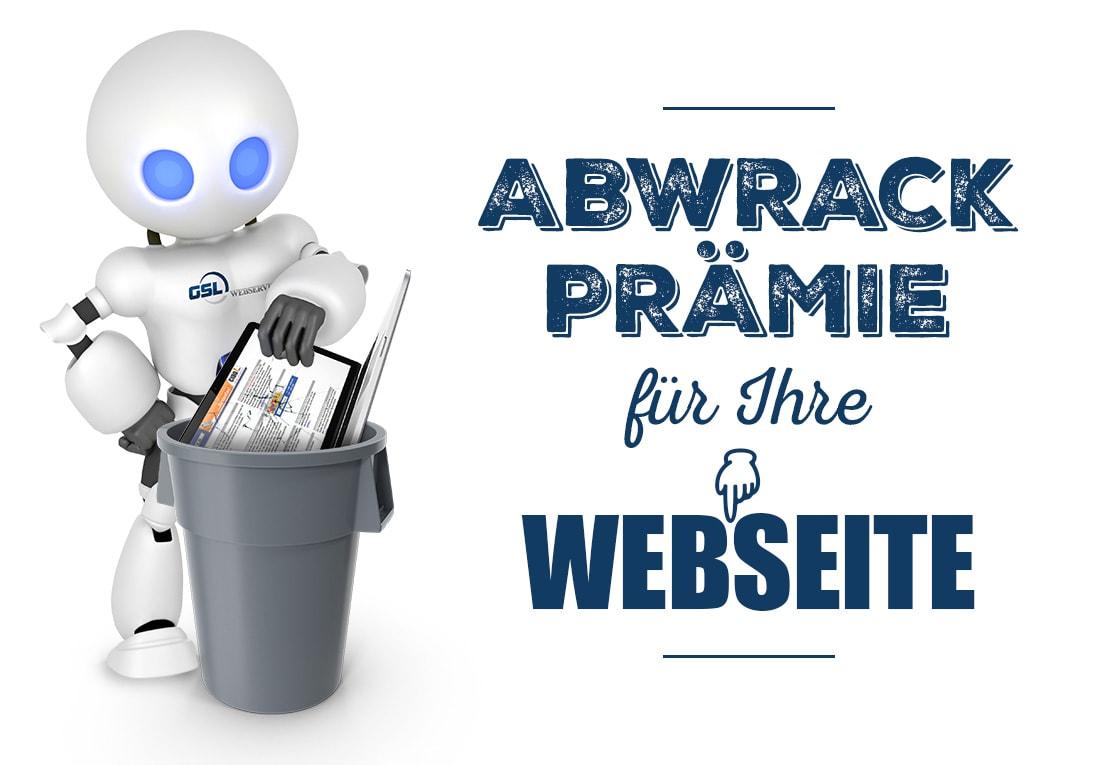 Abwrackpraemie für Ihre Webseite
