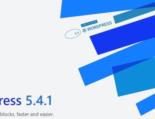 WordPress 5.4.1 ist verfügbar